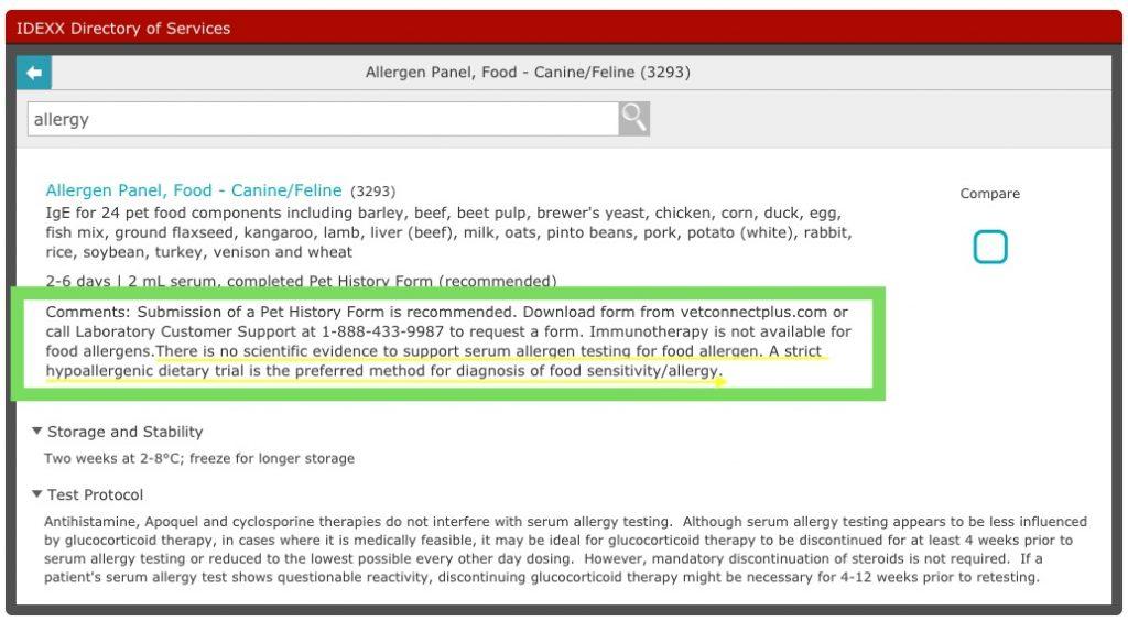 Food diet pet allergy